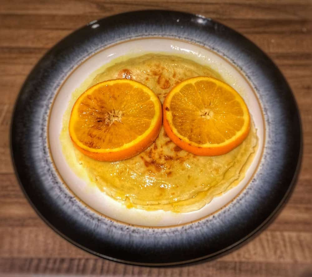 Orange Pancakes - perfect for breakfast or as a sweet   AmateurChef.co.uk