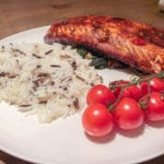 Grilled Salmon and Spinach - Quick and Easy Salmon recipe, low fat and healthy whilst full of flavour - It tastes great!! http://www.amateurchef.co.uk