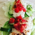 Chicken Gyros Recipe - Tasty greek Gyros which is low fat and healthy. Home made tzatziki recipe - tastes great   AmateurChef.co.uk