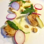 Scallop with Celeriac Puree Starter - This quick and easy starter recipe is the perfect start to a nice 3 course dinner. Tasty Scallops - http://www.amateurchef.co.uk