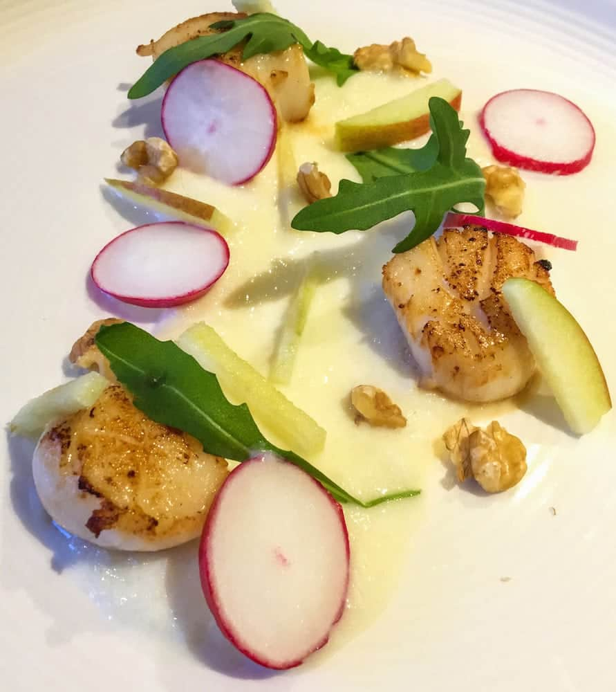 Scallop with Celeriac Puree Starter - This quick and easy starter recipe is the perfect start to a nice 3 course dinner. Tasty Scallops - http://amateurchef.wpengine.com