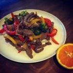 Orange Beef Stir Fry - Quick and easy stir fry recipe, perfect main dinner recipe. This orange beef stir fry is incredibly tasty! Amateurchef.co.uk