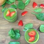 Strawberry, Mango and Spinach Smoothie - perfect summer smoothie as well as breakfast smoothie! Contains Spinach, Strawberry, Carrot, mango and coconut milk - tastes amazing! | AmateurChef.co.uk