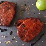 Balsamic Pork Loin Steaks - the marinade for these pork loin steaks are quick and easy to make. The Balsamic, Lime and Chilli brings out the full pork flavour - amazing! | AmateurChef.co.uk
