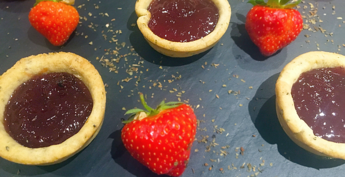 Easy Jam Tarts With Basil Pastry