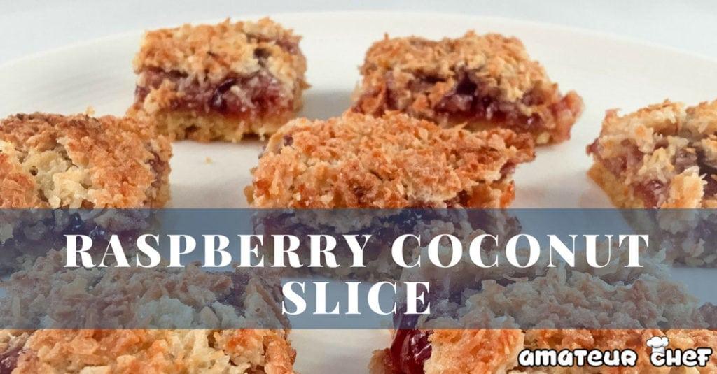 Raspberry Coconut Slice Featured Image | AmateurChef.co.uk